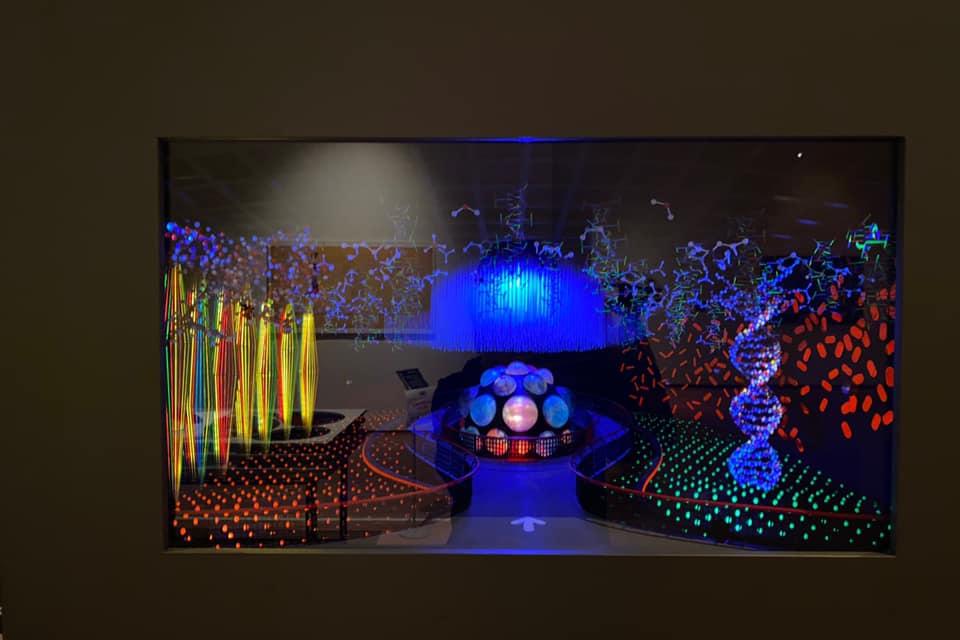 「芸術は呪術である」岡本太郎展in新潟の太陽の塔の地下展示模型C