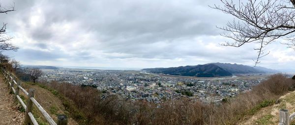 村上城跡からの眺め